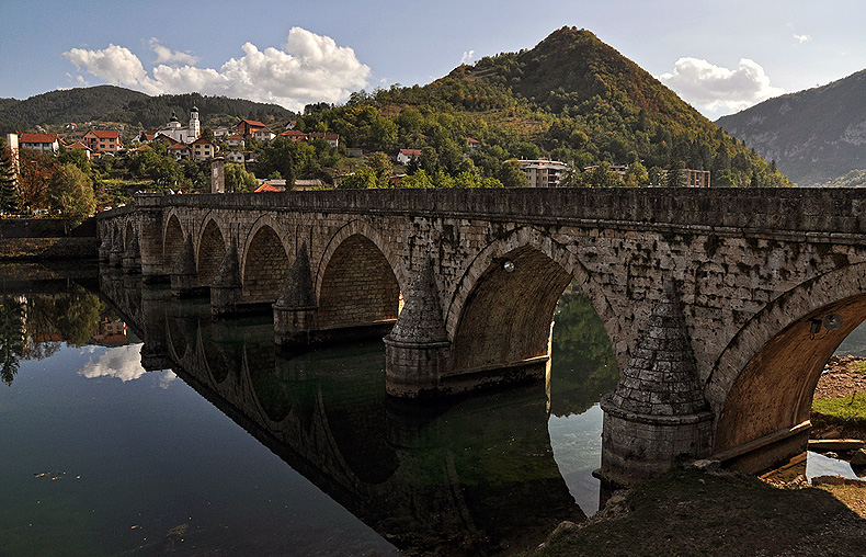 Drina Bridge in Bosnia