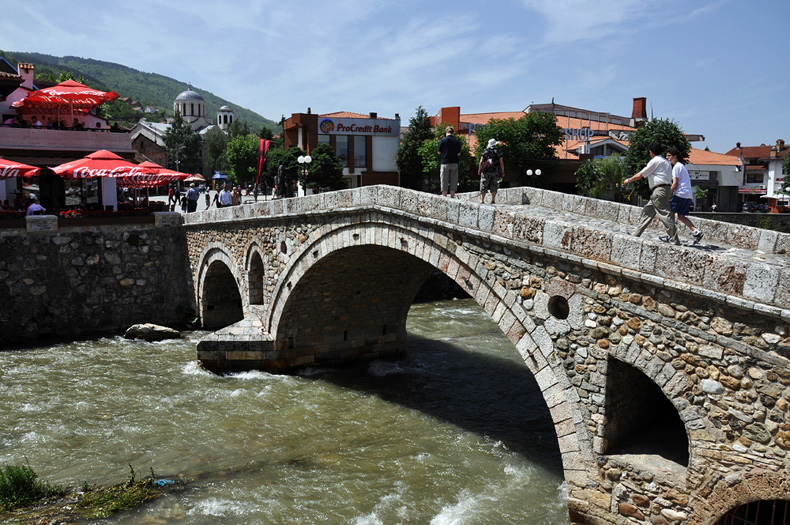 Prizren, city at the Kosovo - Albanian Border