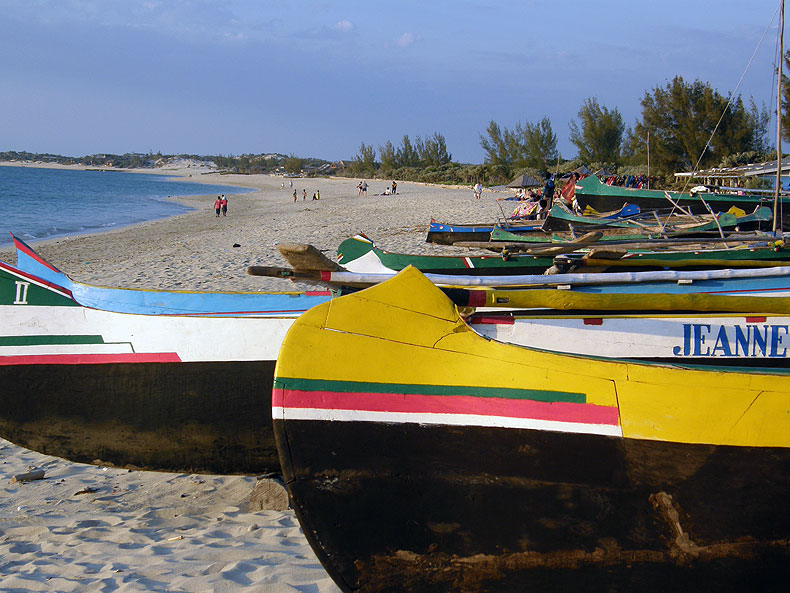 Fishing boats in Anakao