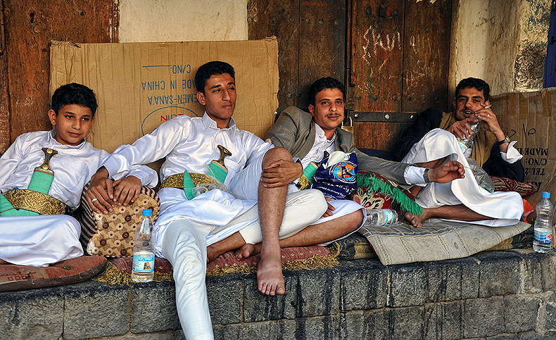 A 'busy' day on the streets of Sana'a