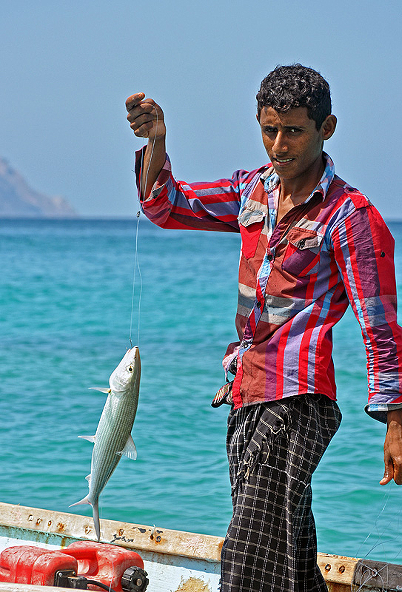 Fisherman in Socotra