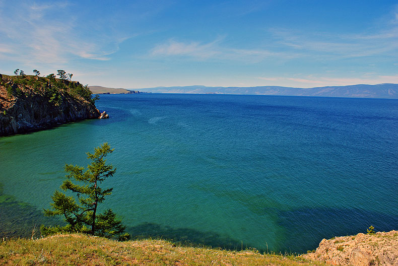 Wonderful summer day, lake Baikal