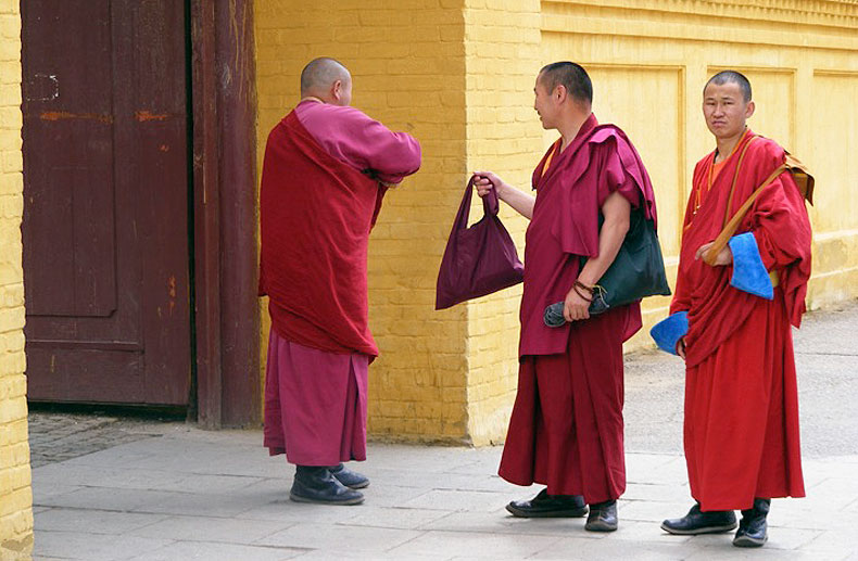 Monks, Mongolia