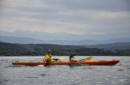 Kayaking in Iskar Dam - Rila Family Adventure