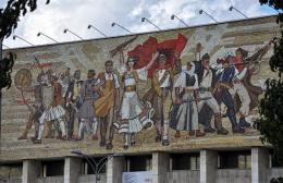 The Albanians' - Mosaic on the National History Museum, Tirana, Albania