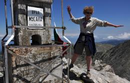 On the top of the highest peak on Balkan peninsula - Musala (2925,40 m a.s.l.)