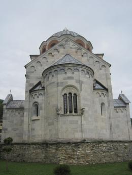 Studenica Monastery built of white marble in the late 12th century, Serbia